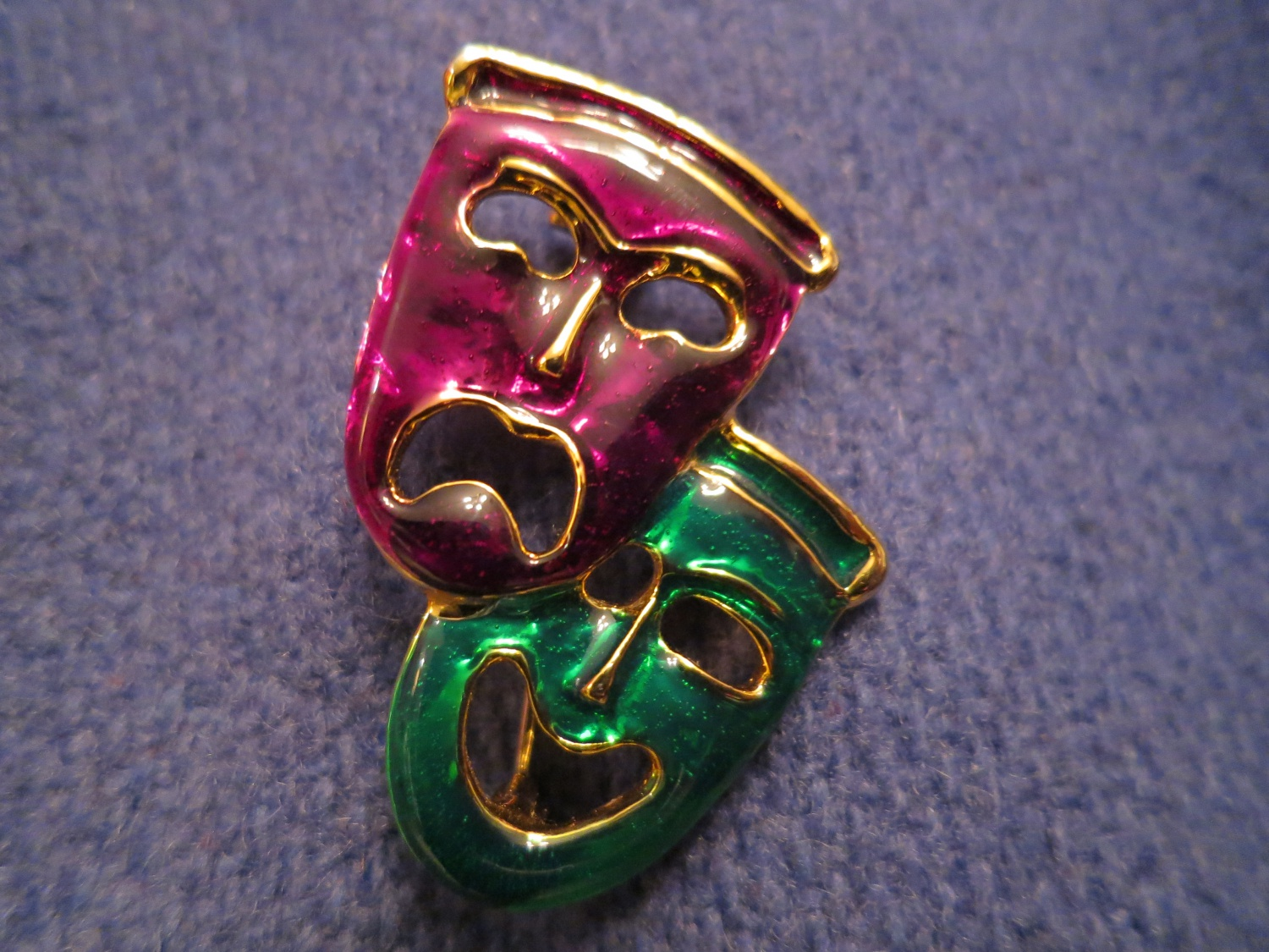 USED /two FACES Brooch