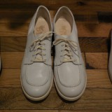 Ladies White Leather Shoes