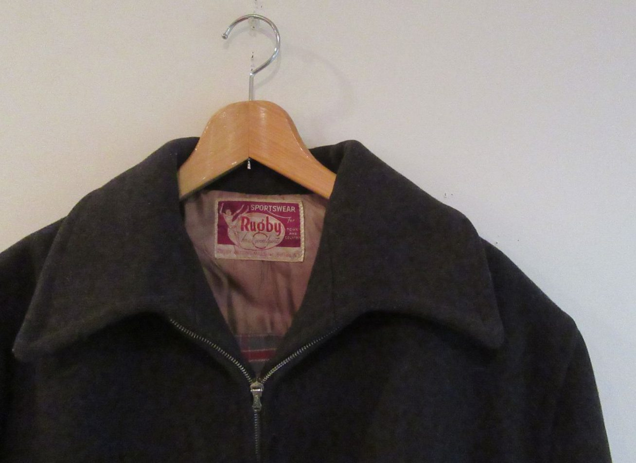 Rugby Knitting Mills ヴィンテージ メルトンハーフコート Vintage Used Clothing Roger S
