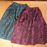 【Womens】美しい裾ラインと着心地抜群の花柄刺繍風サーキ